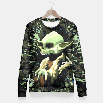 Thumbnail image of Skull Yoda Jedi Fitted Sweater, Live Heroes