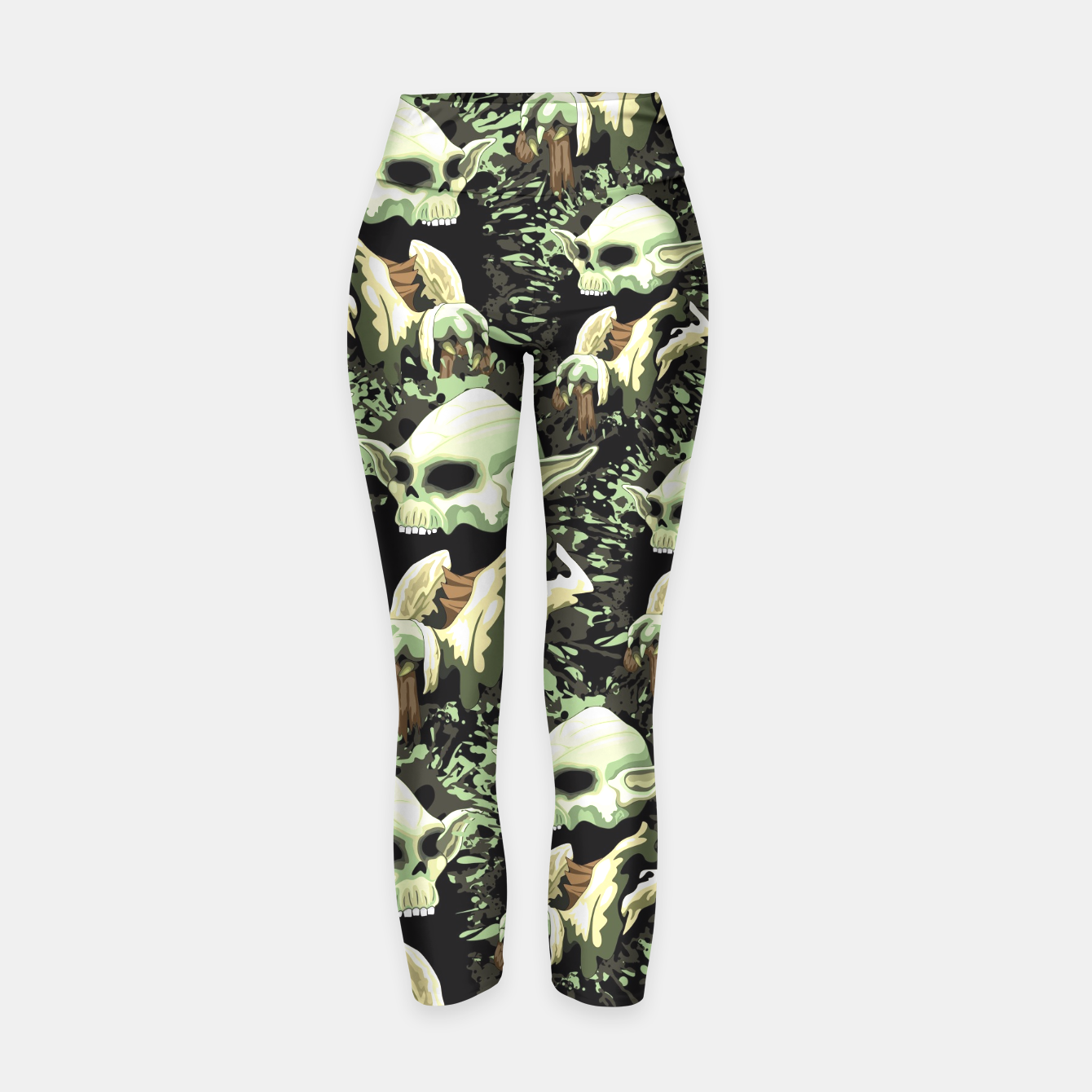 Skull Yoda Jedi Yoga Pants - Design by BluedarkArt - LiveHeroes Shop