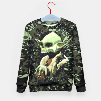 Thumbnail image of Skull Yoda Jedi Kids Sweater, Live Heroes