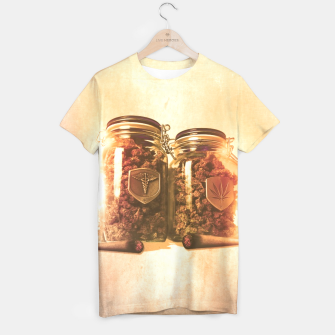 Thumbnail image of WEED JARS & JOINTS ALL OVER PRINT TSHIRT, Live Heroes