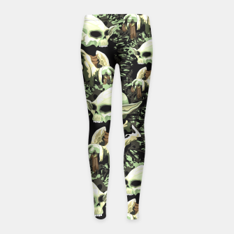 Thumbnail image of Skull Yoda Jedi Girls Leggings, Live Heroes