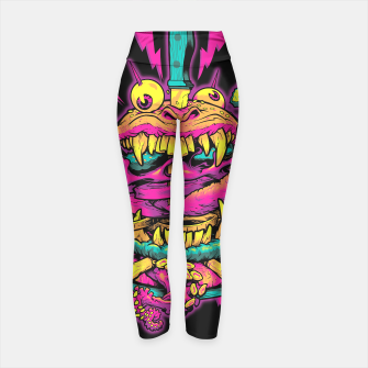 Thumbnail image of BEASTBURGER yoga pants, Live Heroes