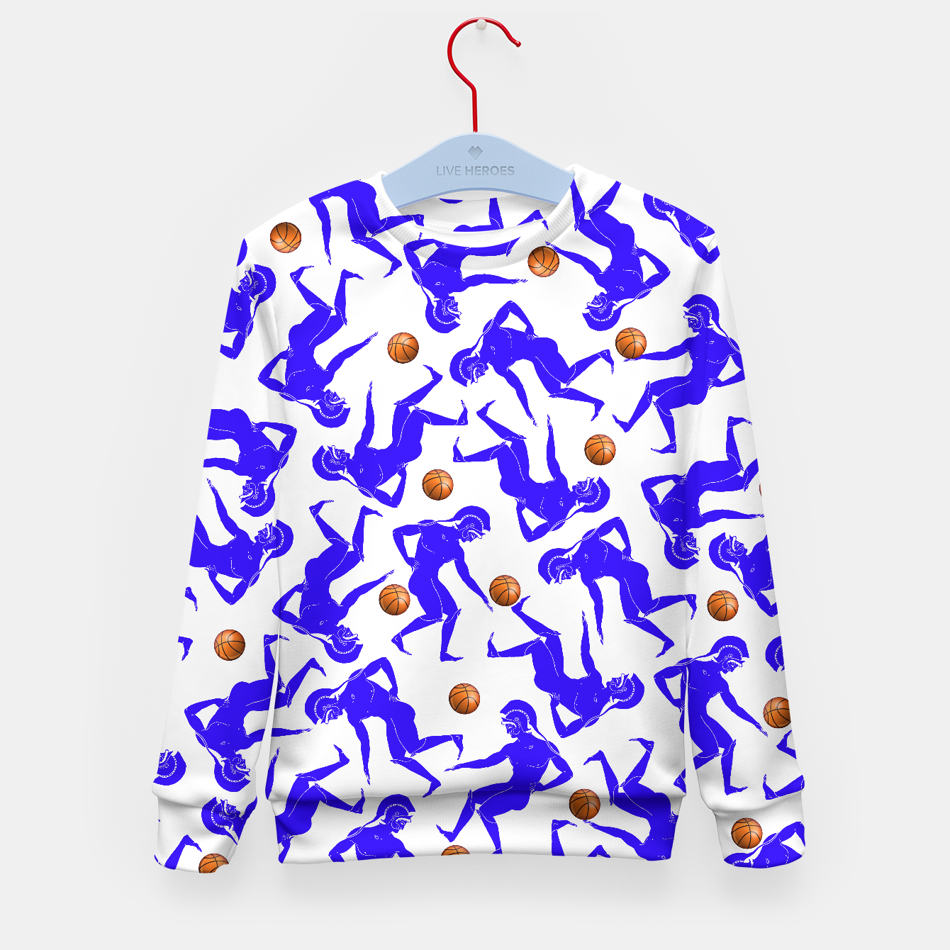 Image of Hoplites blue white Kid's Sweater - Live Heroes