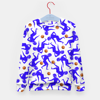 Thumbnail image of Hoplites blue white Kid's Sweater, Live Heroes