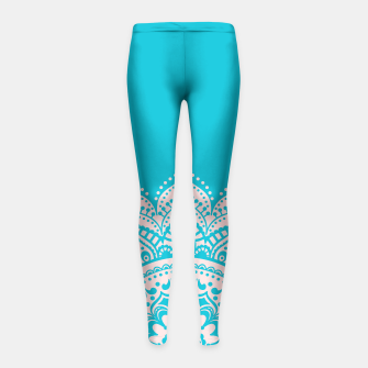 Thumbnail image of Mandala Girl's Leggings, Live Heroes