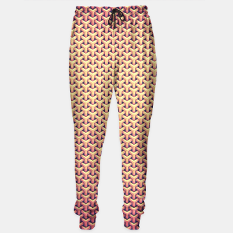 Miniature de image de Optical illusion - Impossible Pattern -  Gold Grid Pattern Sweatpants, Live Heroes