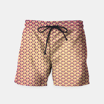 Miniature de image de Optical illusion - Impossible Pattern -  Gold Grid Pattern Swim Shorts, Live Heroes