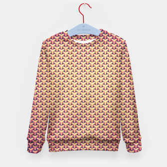 Optical illusion - Impossible Pattern -  Gold Grid Pattern Kid's Sweater miniature