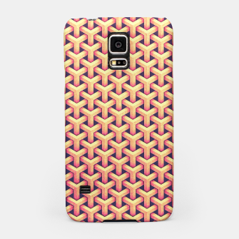 Optical illusion - Impossible Pattern -  Gold Grid Pattern Samsung Case miniature