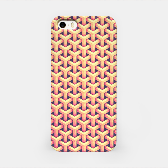 Optical illusion - Impossible Pattern -  Gold Grid Pattern iPhone Case miniature