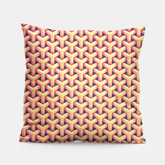 Optical illusion - Impossible Pattern -  Gold Grid Pattern Pillow miniature
