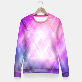 Miniature de image de Soft Modern Fashion pink/purple/blueTexture (Soft light glass style - triangle - pattern edit) Fitted Waist Sweater, Live Heroes