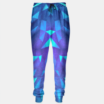 Miniature de image de Deep Blue Collosal Low Poly Triangle Pattern -  Modern Abstract Cubism  Design Sweatpants, Live Heroes