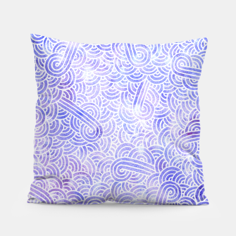 Miniatur Lavender and white swirls zentangles Pillow, Live Heroes