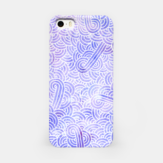 Miniatur Lavender and white swirls zentangles iPhone Case, Live Heroes