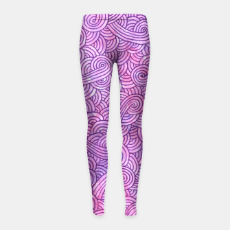 Imagen en miniatura de Neon pink and purple swirls zentangles Girl's Leggings, Live Heroes