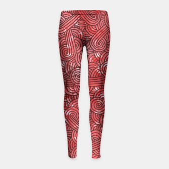 Imagen en miniatura de Red and black zentangles Girl's Leggings, Live Heroes