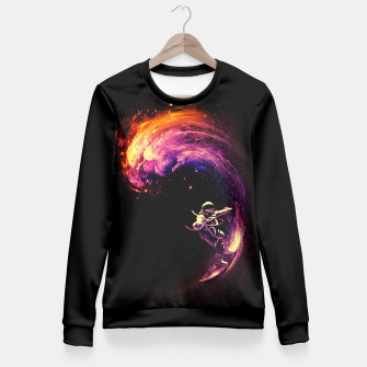 Thumbnail image of Space Surfing Fitted Waist Sweater, Live Heroes