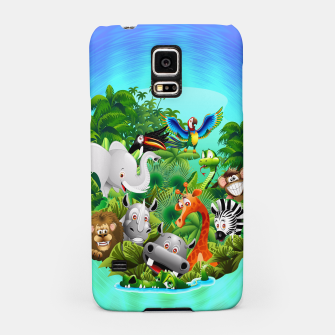 Thumbnail image of Wild Animals Cartoon on Jungle Samsung Case, Live Heroes
