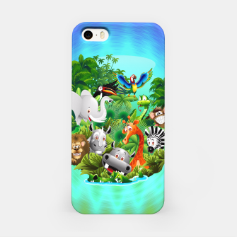 Thumbnail image of Wild Animals Cartoon on Jungle iPhone Case, Live Heroes