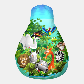 Thumbnail image of Wild Animals Cartoon on Jungle Pouf, Live Heroes