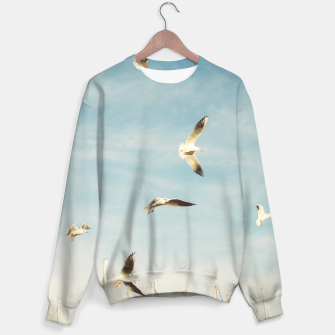 Miniatur Seagulls Flying In The Air Sweater, Live Heroes