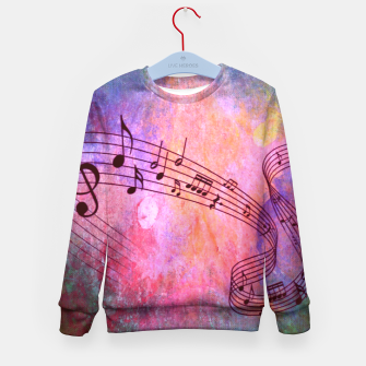 Thumbnail image of Abstract Music 316 Kid's Sweater, Live Heroes