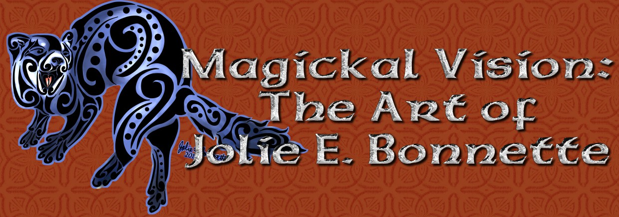 Magickal Vision: The Art of Jolie E. Bonnette background image, Live Heroes