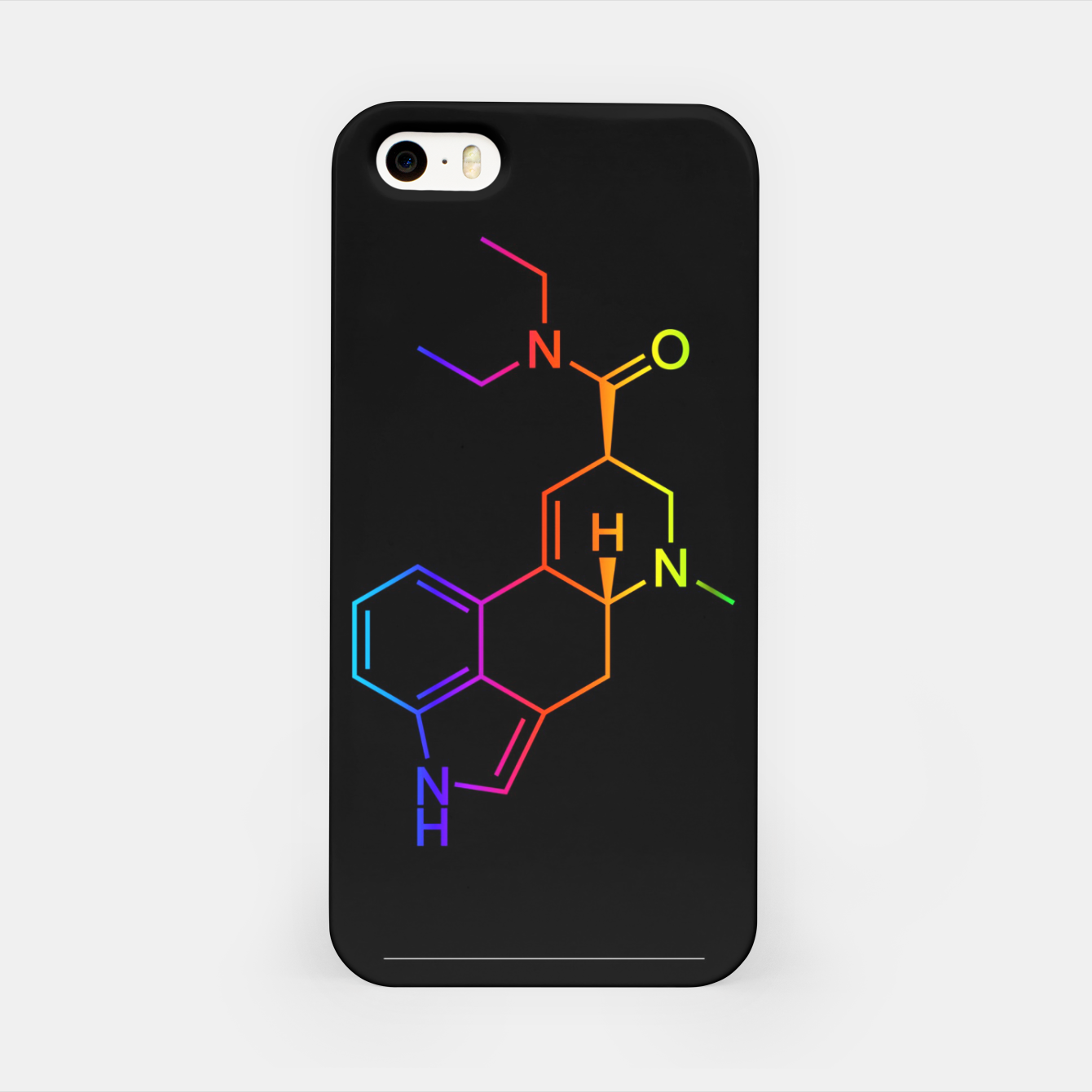 Image of LSD Molecule Colored iPhone Case - Live Heroes