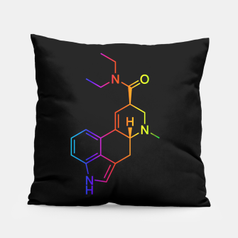 Thumbnail image of LSD Molecule Colored Pillow, Live Heroes