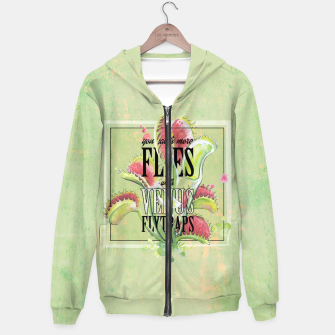 Thumbnail image of Catch more Flies with Venus Flytraps Hoodie, Live Heroes