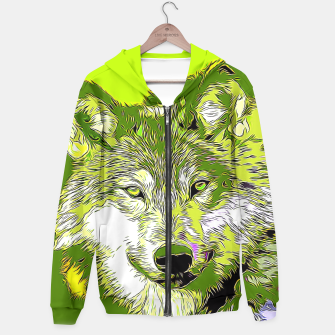 Thumbnail image of Wolf20151118 Cotton zip up hoodie, Live Heroes
