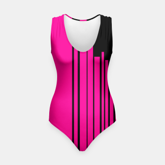 Thumbnail image of Pink Black Striped Swimsuit , Live Heroes