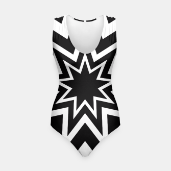 Thumbnail image of Black Tri-Enneagram Swimsuit, Live Heroes