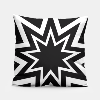 Thumbnail image of Black Tri-Enneagram Pillow, Live Heroes