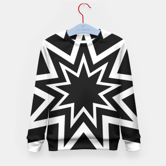 Thumbnail image of Black Tri-Enneagram Kid's Sweater, Live Heroes