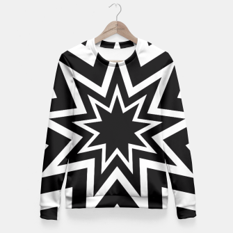Thumbnail image of Black Tri-Enneagram Fitted Waist Sweater, Live Heroes