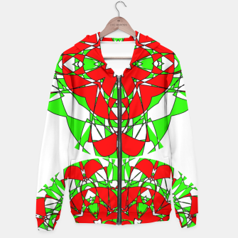 Red Green Moroccan Tile Design Hoodie thumbnail image