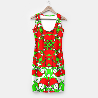 Thumbnail image of Red Green Moroccan Tile Design Simple Dress, Live Heroes