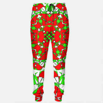 Red Green Moroccan Tile Design Sweatpants thumbnail image