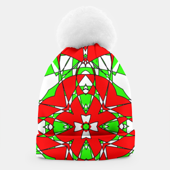 Red Green Moroccan Tile Design Beanie thumbnail image