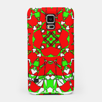 Red Green Moroccan Tile Design Samsung Case thumbnail image