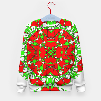 Red Green Moroccan Tile Design Kid's Sweater thumbnail image