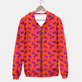 Thumbnail image of Abstract Funky Contrasting Orange Purple Mix  Hoodie, Live Heroes