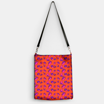 Thumbnail image of Abstract Funky Contrasting Orange Purple Mix  Handbag, Live Heroes