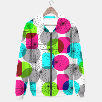 Thumbnail image of Bold Colorful Retro Geometric Star Bursts Hoodie, Live Heroes