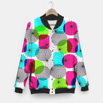 Thumbnail image of Bod Colorful Retro Geometric Star Bursts Baseball Jacket, Live Heroes