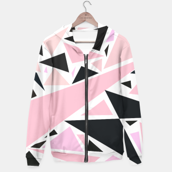 Thumbnail image of Modern abstract geometric pink black triangles Hoodie, Live Heroes