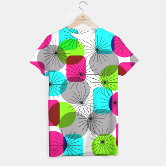 Thumbnail image of Bod Colorful Retro Geometric Star Bursts T-shirt, Live Heroes