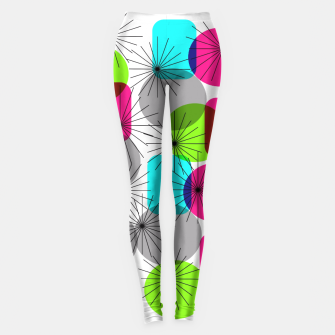 Thumbnail image of Bod Colorful Retro Geometric Star Bursts Leggings, Live Heroes